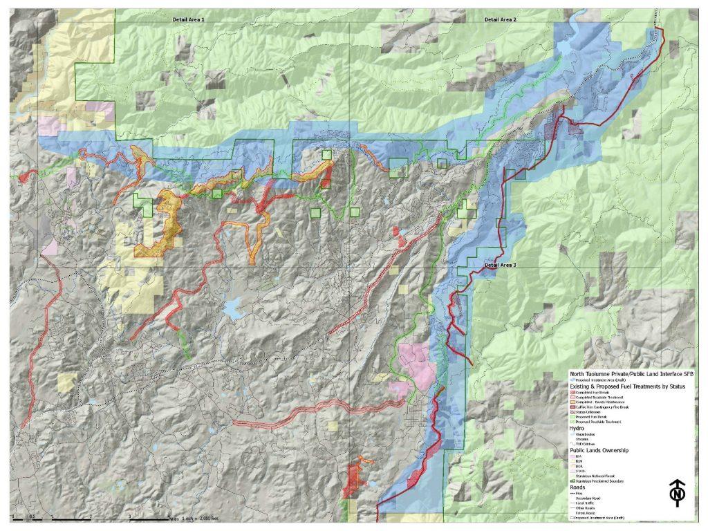 Map of North Tuolumne Community Fuel Break